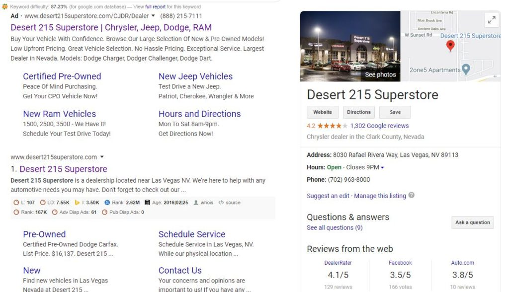 Las Vegas Car Dealership-Desert-215-Superstore-Does-Not-Know-They-Have-GMB-Reviews